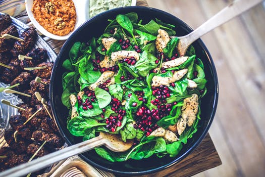 Fresh green salad daily